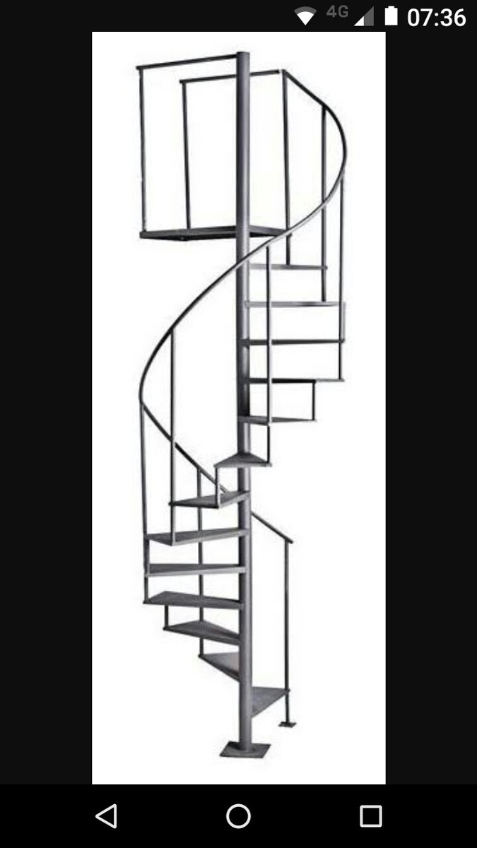 Escada Caracol Ferro Degrau 50 So Rj. - R$ 1.500,00 em Mercado Livre