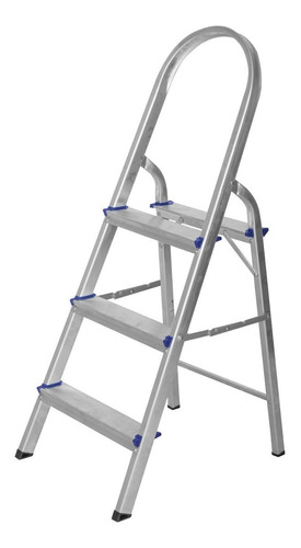 escada de alumínio dobrável 3 degraus premium gwt