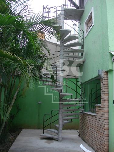 escada de concreto pré moldada modelo caracol - abc/sp