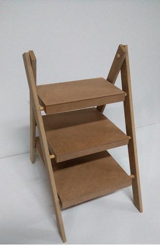 escada de doce 3 andar desmontavel g para chão mdf cru-festa