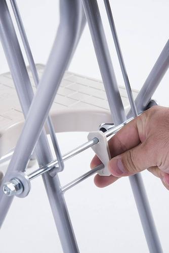 escada dobrável cinza 3 degraus compacta 120kg  - anodilar