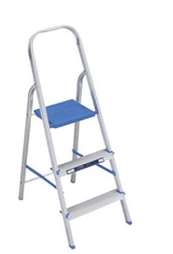 escada em alumínio 3 degraus 120kg  alumasa frete gratis