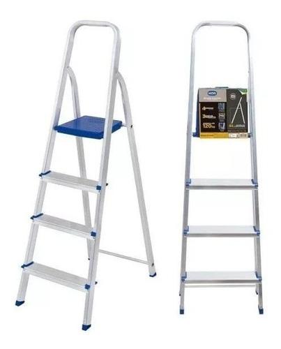 escada em aluminio c/ 4 degraus 005102 mor