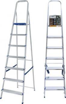 escada em alumínio com 7 degraus suporta até 120 kg - mor