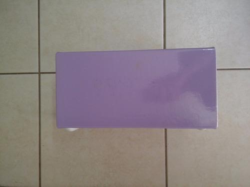 escada escadinha um degrau lilás para maca massagem estética