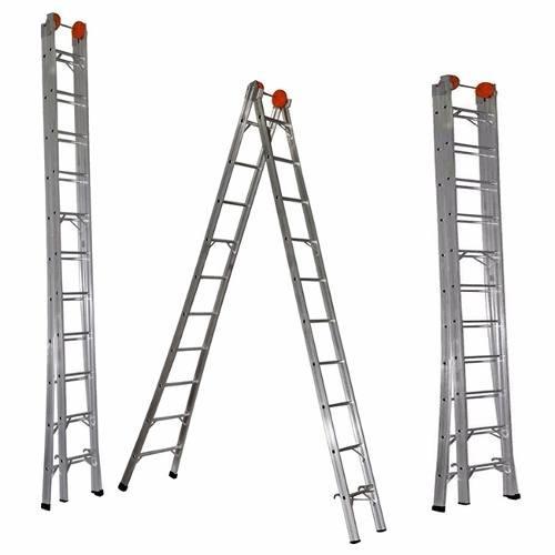 escada extensível em alumínio 7 degraus 2,6 / 3,82m - ágata