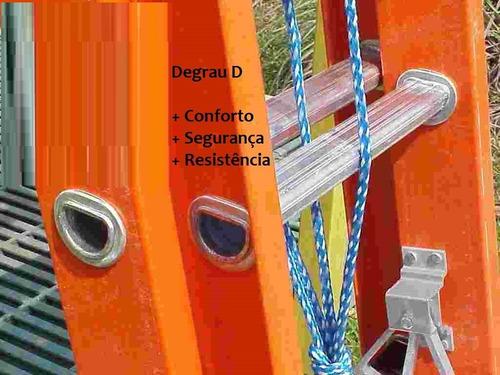 escada extensível em fibra de vidro 3,60 x 6,00 m