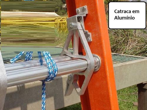 escada extensível em fibra de vidro 4,20 x 7,20 m