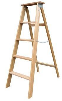 escada madeira americana simples n°04 - 1,00 m (elite)