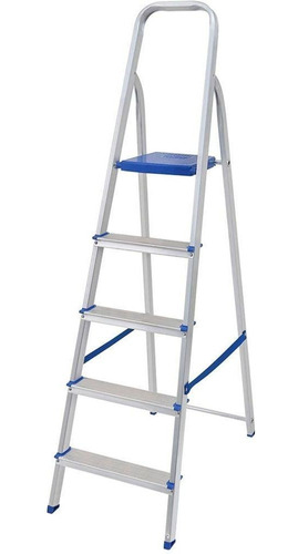 escada mor 5103 5 degraus alumínio capacidade 120kg