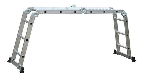 escada multifuncional 12 degraus 7em1 em alumínio evolux