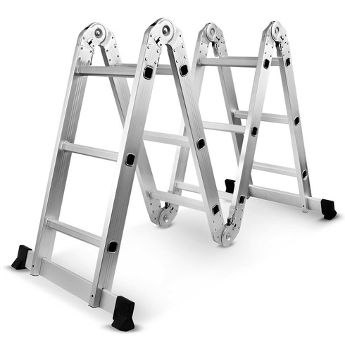 escada multifuncional 4x3 12 degraus alumínio