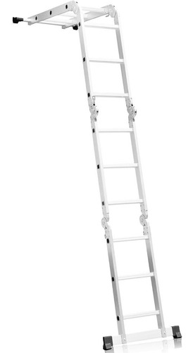 escada multifuncional 4x3 em alumínio com 12 degraus-fortgpr