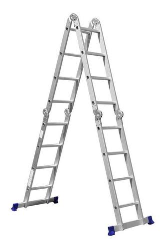 escada multifuncional 4x4 c/ 16 degraus mor