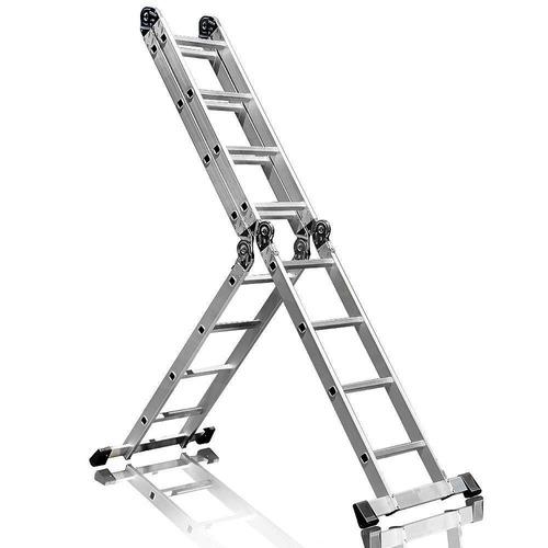 escada multifuncional 4x4 em aço e alumínio 16 degraus-fortg