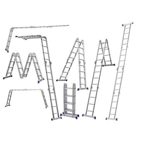 escada multifuncional 4x4 em alumínio 16 degraus  mor