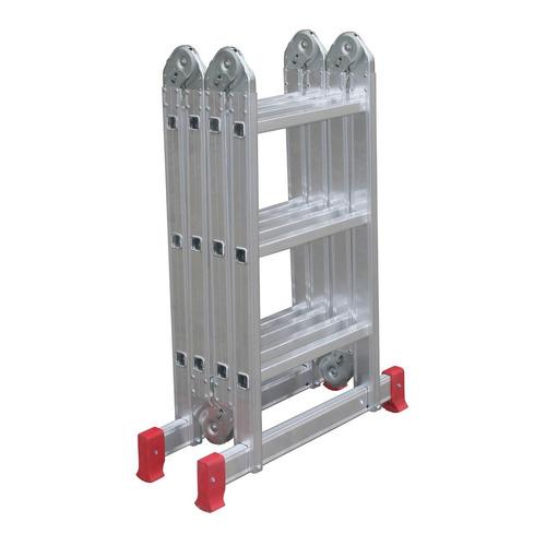 escada multifuncional alumínio 4x3 12 degraus - botafogo