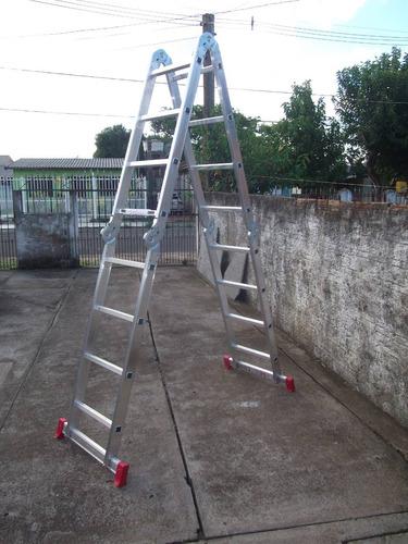 escada multifuncional articulada 4 x 4 aluminio 4,70 metros