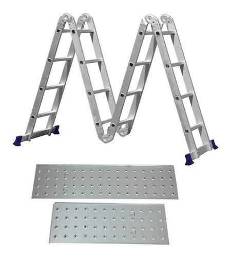 escada multifuncional com plataforma alumínio mor