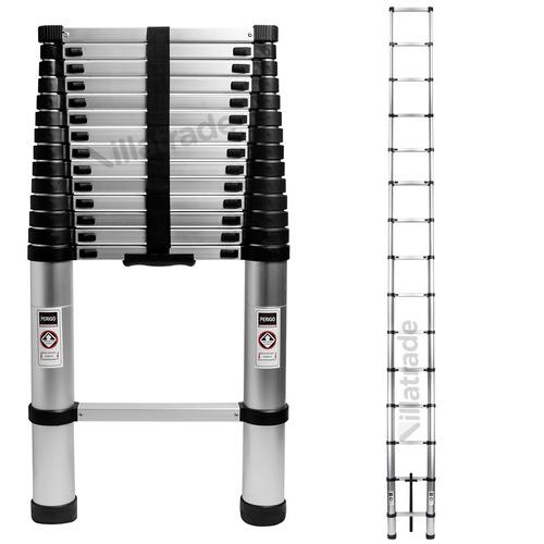 escada telescópica alumínio multifuncional 4,40 m 15 degraus