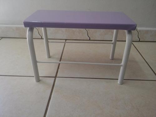 escada um degrau lilás para maca massagem e depilação