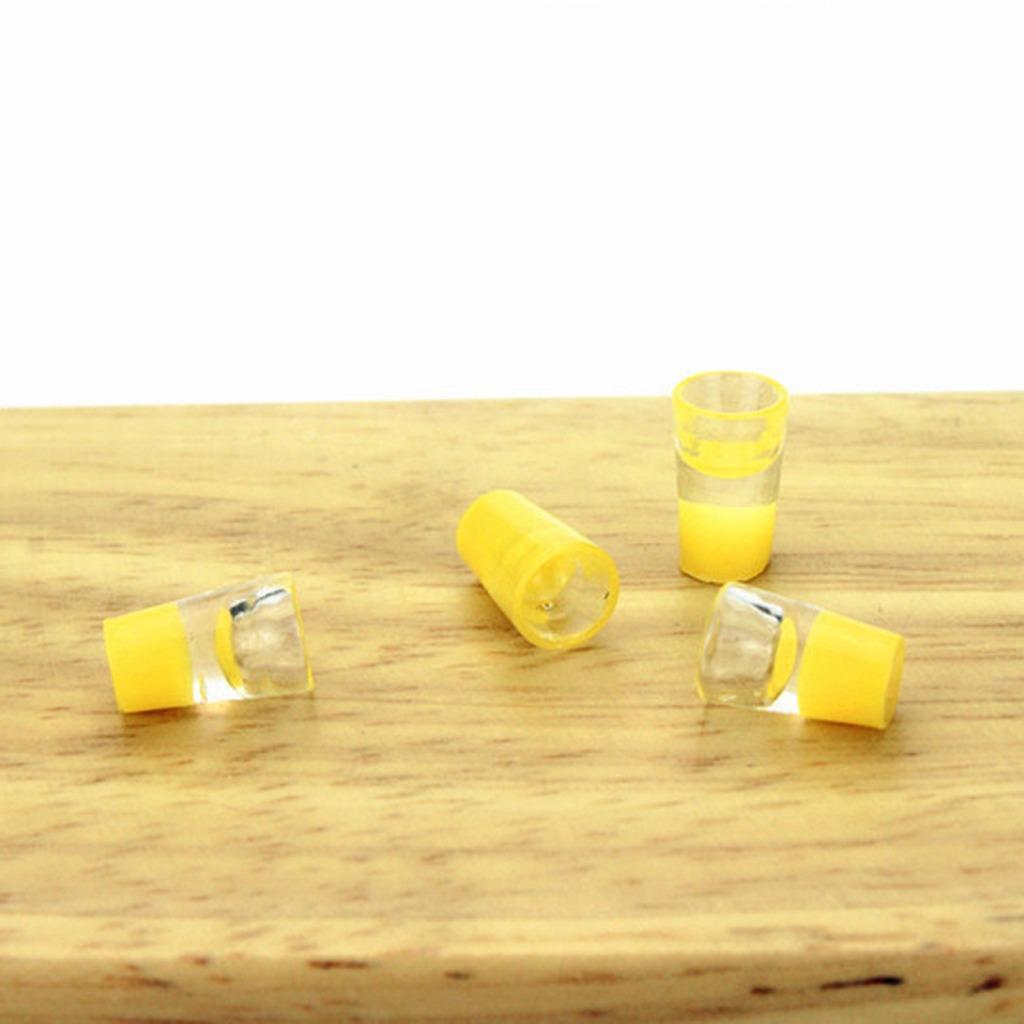 Casa de muñecas en miniatura Conjunto de 6 tazas de color en escala 12th
