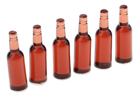 4PCS 1//6 ESCALA MINIATURA DOLLHOUSE Botella De Vino Vodka bebidas Modelo Muñeca Juguete R