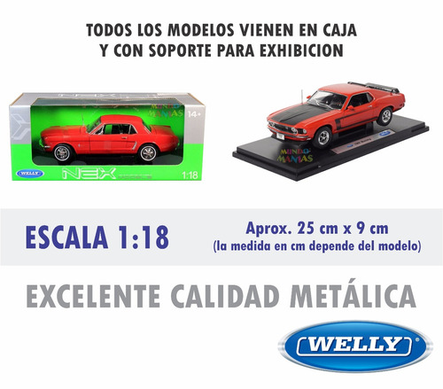 escala 1:18 auto welly