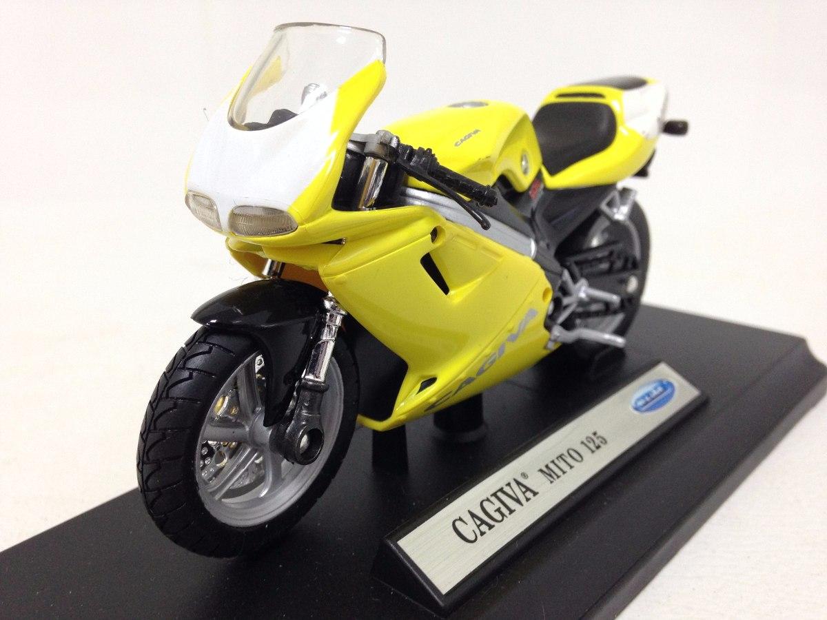 0b82f0064f Miniatura Moto Cagiva Mito 125 Escala 1 18 Die Cast - R  149