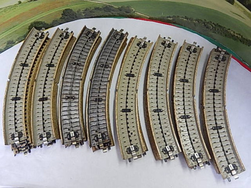 escala ho marklin 24 trilhos curvos   c/altern. jorgetrens