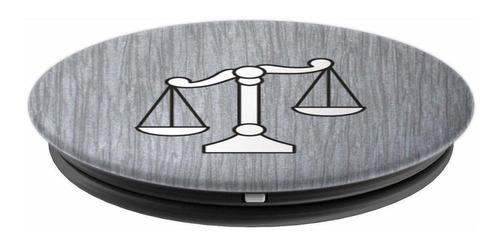 escalas de justicia gris - popsockets de agarre y soporte pa