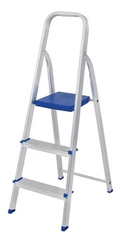 escalera 3 escalones aluminio 0.63 mts mor
