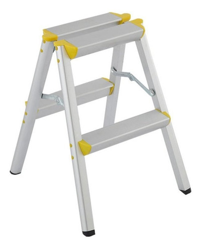 escalera 445 mm x 390 mm x 500 mm ap-2102 2 pasos aluminio