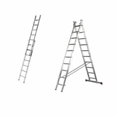 Escalera aluminio 2 etapas extensibles mt venta for Oferta escalera aluminio