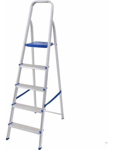 escalera aluminio 5 escalones mor plegable villa urquiza