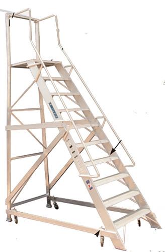 Escalera aluminio 9 escalones industrial altura for Escalera 9 escalones