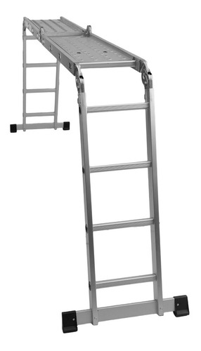 escalera aluminio articulada 4x4 con chapones 4.44m 16 esc.