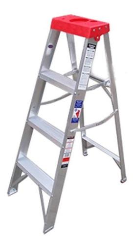 escalera aluminio escalumex 3 peldaños 1.22 mts stl-4 r tipo