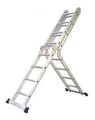 escalera aluminio multifuncion plegable 4.75m reforzada m m