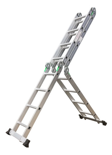 escalera aluminio multifuncion plegable 4x4 reforzada - rex