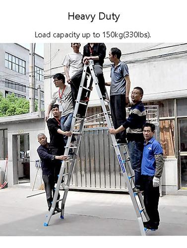 escalera aluminio pie de gigante 6,22m kulbart 4x6 c
