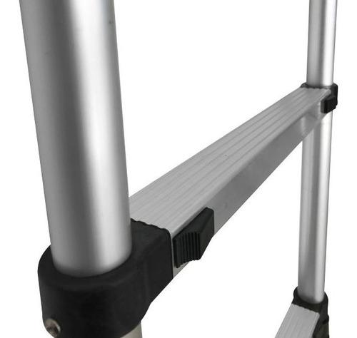 escalera aluminio telescópica extensible 6 escalones 2 mts.