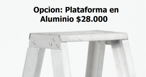 escalera aluminio tijera 8 pasos / 2.40 metros 102 kg