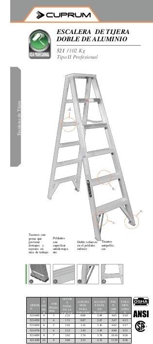 Escalera aluminio tijera doble acceso precio x paso s for Precios de escaleras de tijera de aluminio