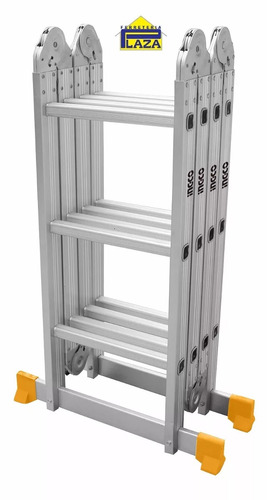escalera andamio aluminio multiuso 12 escalones 3.7mt ingco