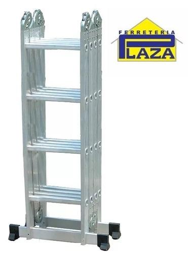 escalera andamio multifunción 16 escalo aluminio 4,75m 150kg