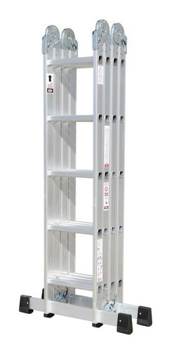 escalera articulada multiproposito plegable 20 peldaños