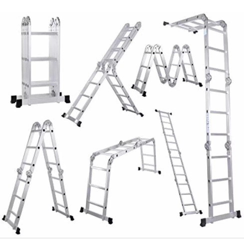 escalera articulada plegable andamio 3x4 12 escalones 3,37 m