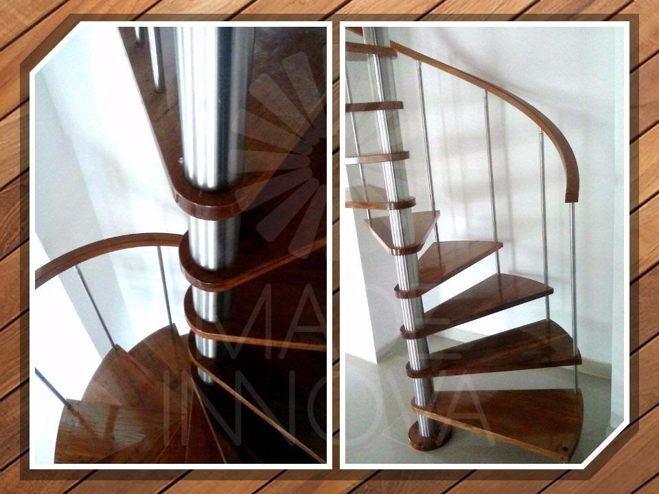Escalera de caracol de madera escalera de caracol cuadrada - Modelos de escaleras de madera ...