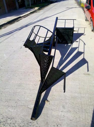 escalera caracol 3mt x 60cm antideslizante